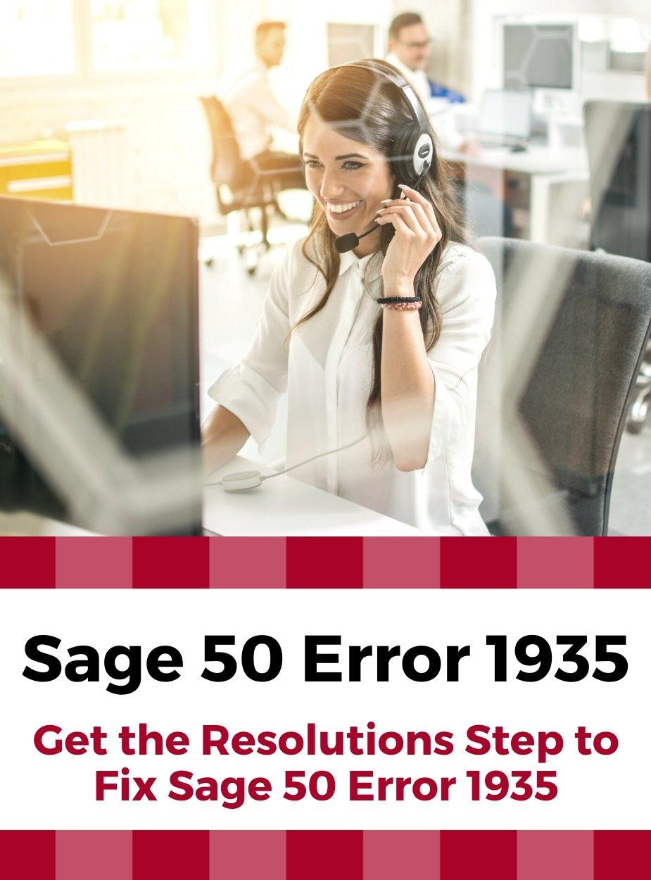 Sage 50 Error 1935