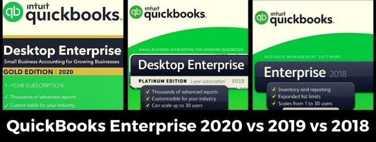 QuickBooks Enterprise Desktop 2020, 2019, 2018