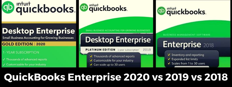 QuickBooks Enterprise Desktop 2020, 2019, 2018