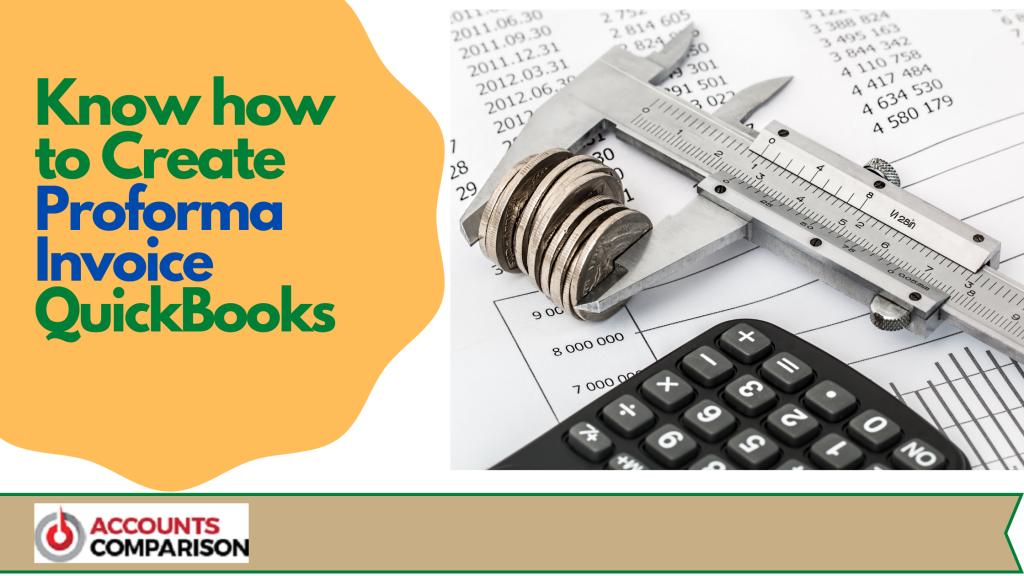 Proforma Invoice QuickBooks