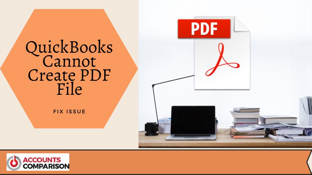 QuickBooks Cannot Create PDF File