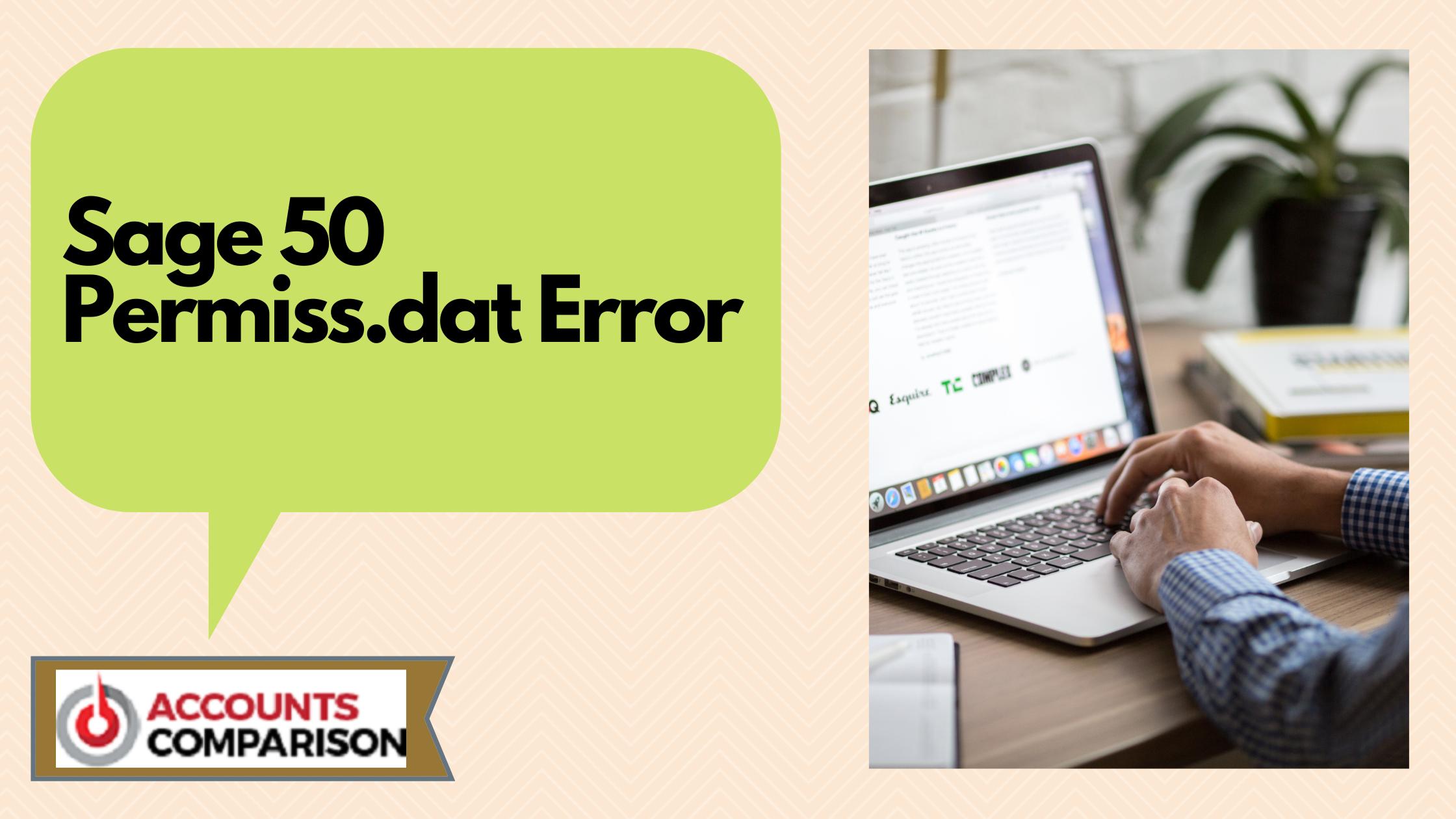 Sage 50 Permiss.dat Error