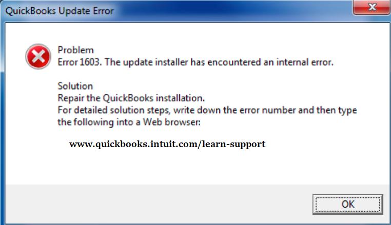 Fix QuickBooks Error 1603