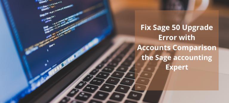 Sage 50 Upgrade Error